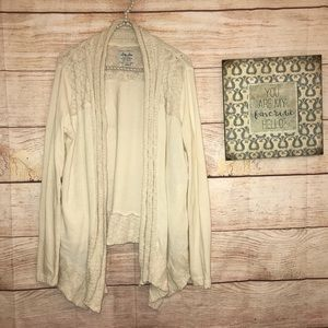 Lucky Lotus by Lucky Brand knit cream sweater L